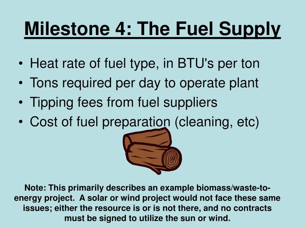 Milestone 4: The Fuel Supply