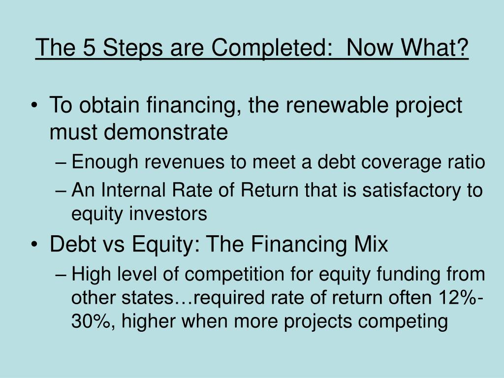 The 5 Steps are Completed:  Now What?