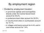 by employment region