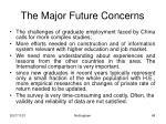 the major future concerns