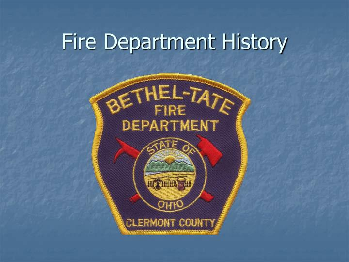 fire department history n.