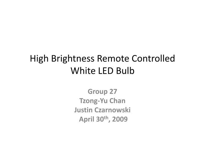 high brightness remote controlled white led bulb n.