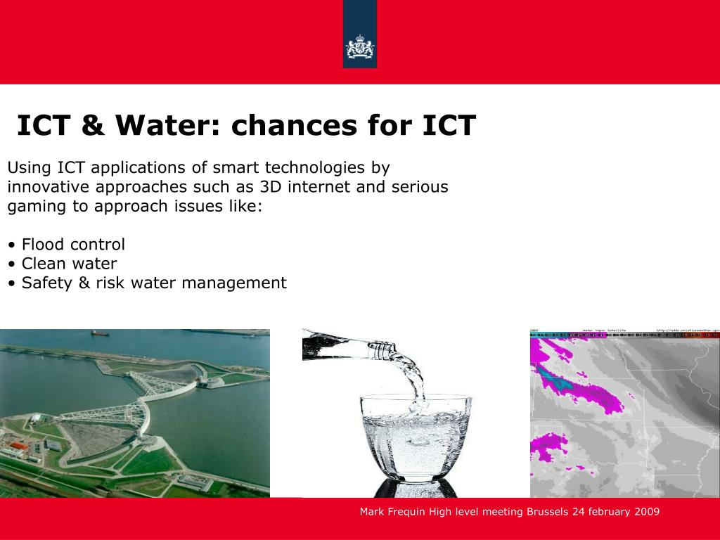 ICT & Water: chances for ICT