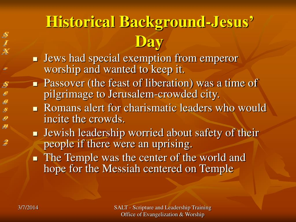 Historical Background-Jesus' Day