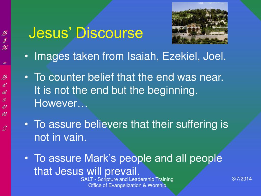 Jesus' Discourse