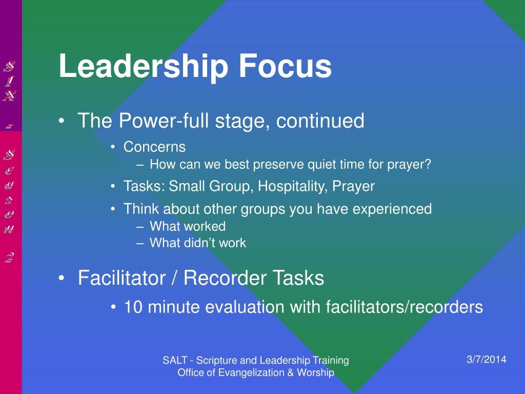 Leadership Focus