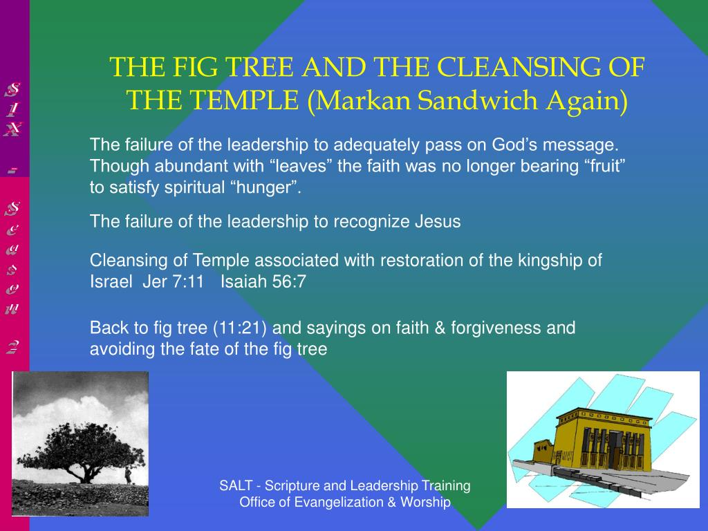 THE FIG TREE AND THE CLEANSING OF THE TEMPLE (Markan Sandwich Again)