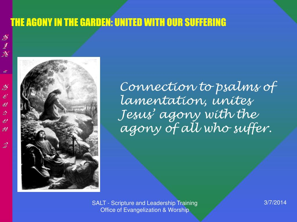 THE AGONY IN THE GARDEN: UNITED WITH OUR SUFFERING