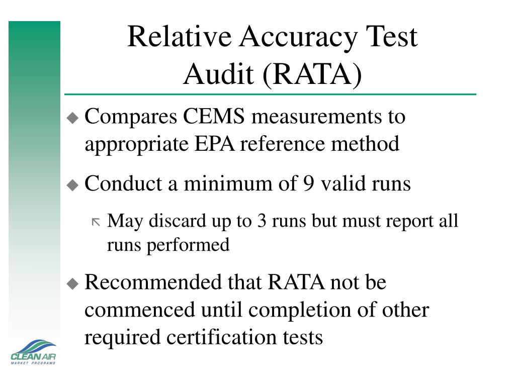 Relative Accuracy Test