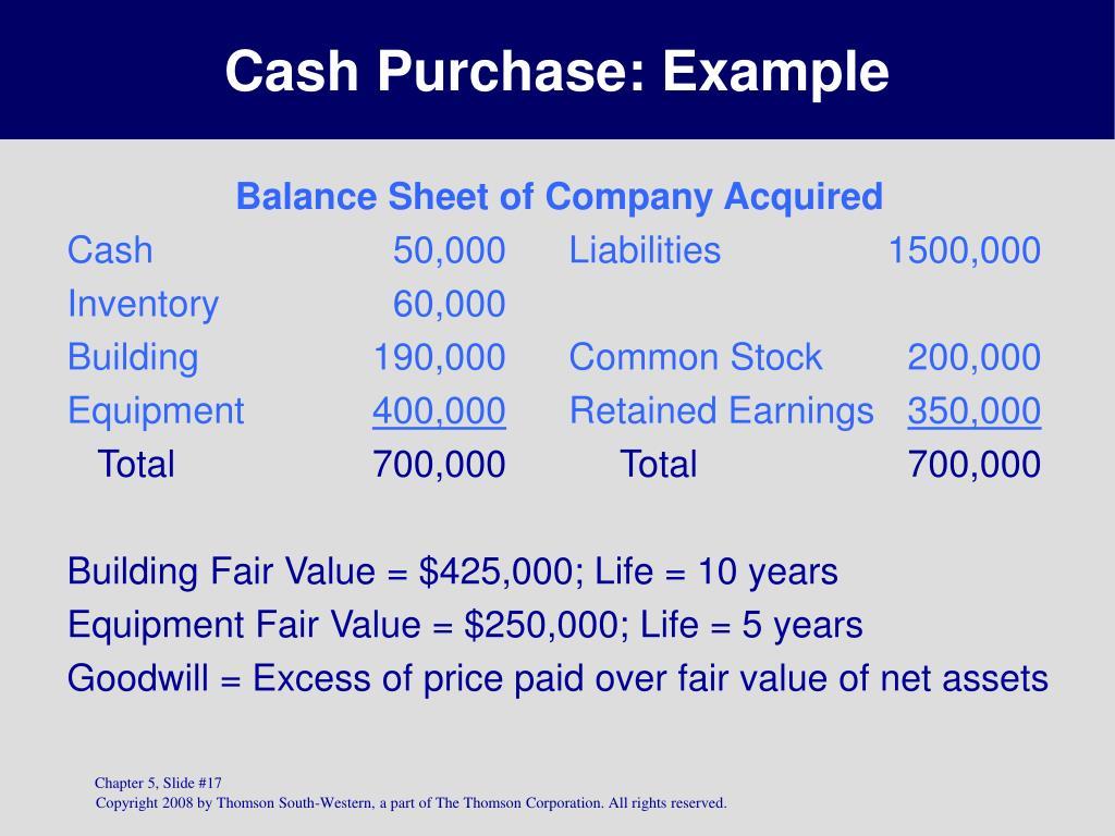 Cash Purchase:
