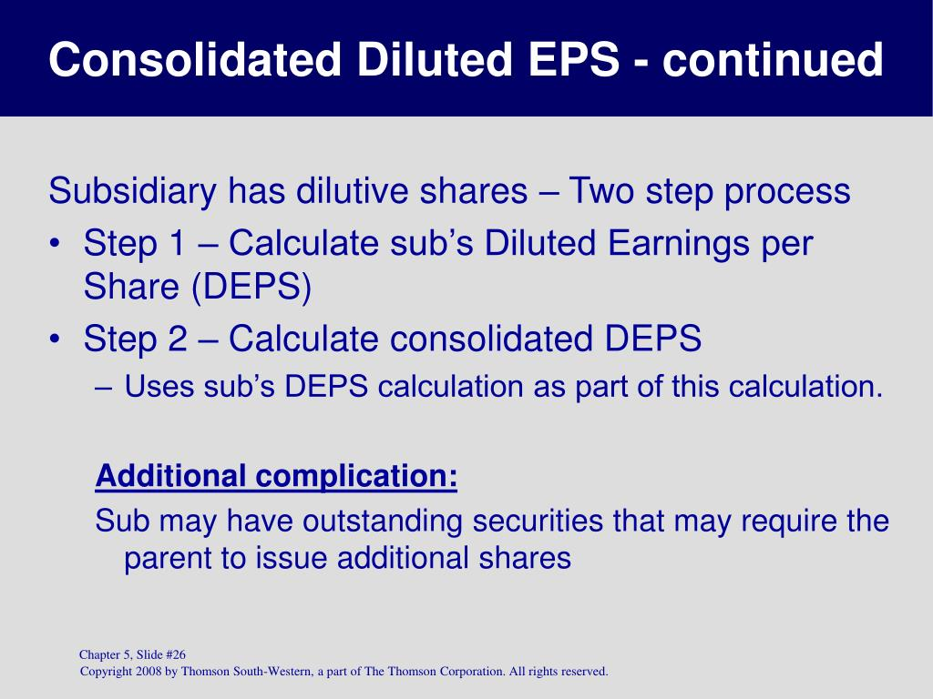 Consolidated Diluted EPS - continued