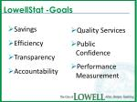 lowellstat goals