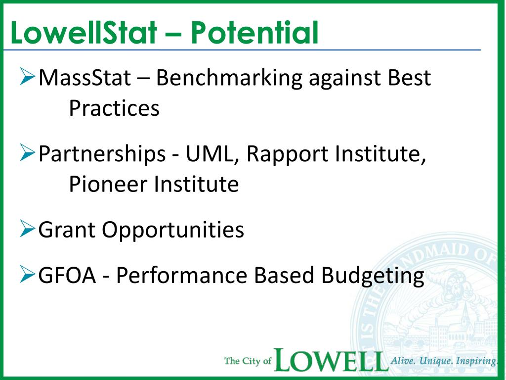 LowellStat – Potential
