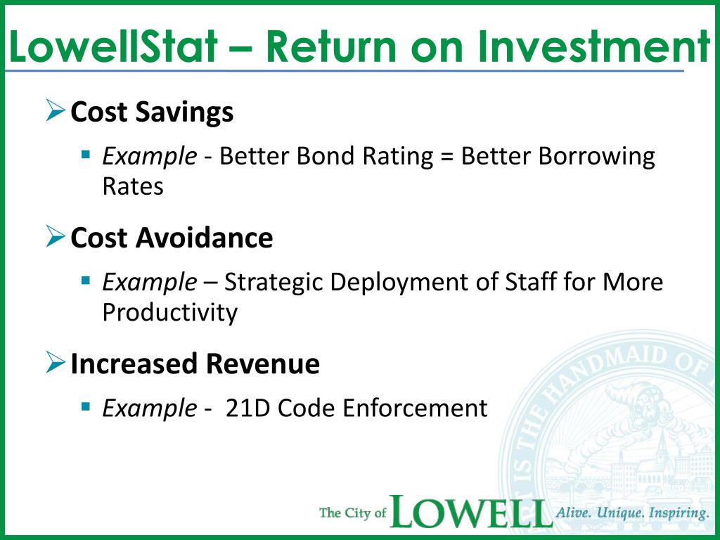 LowellStat – Return on Investment