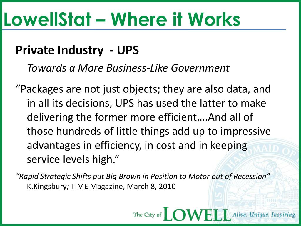 LowellStat – Where it Works