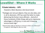 lowellstat where it works