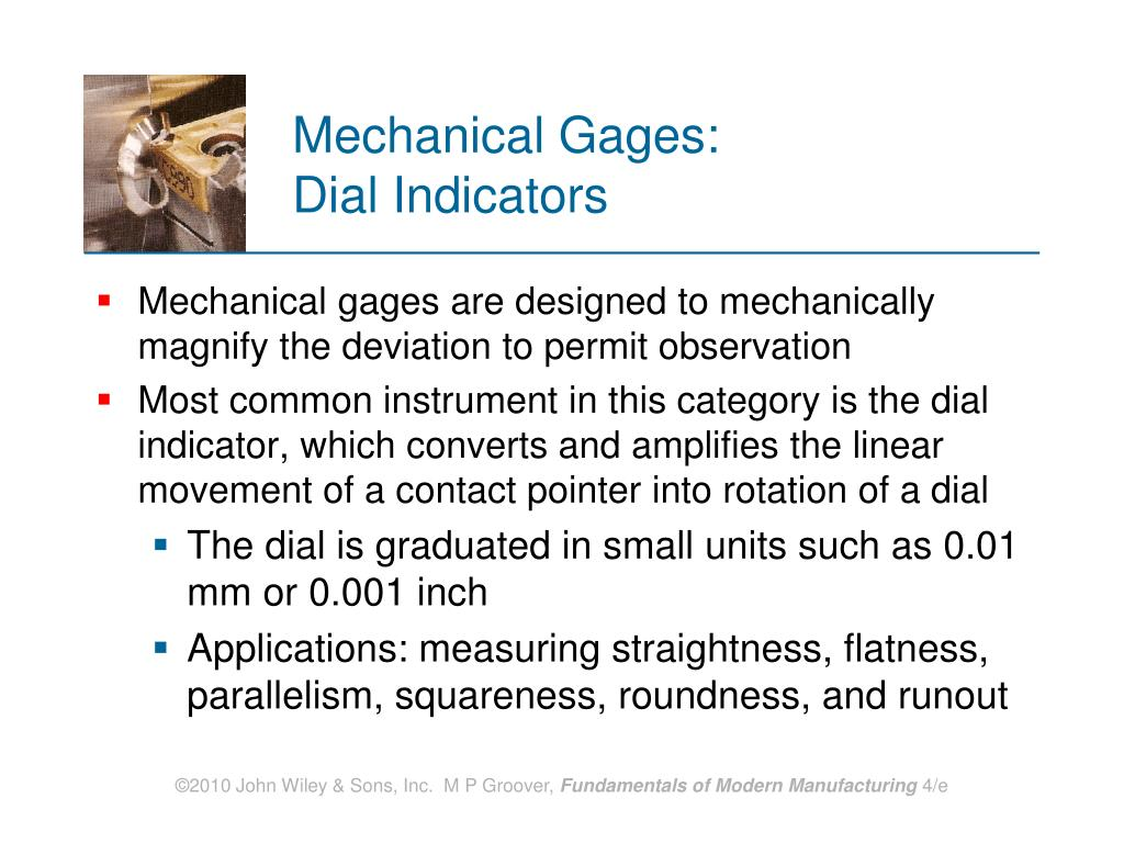 Mechanical Gages: