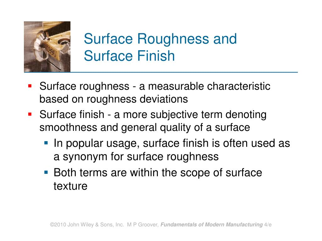 Surface Roughness and