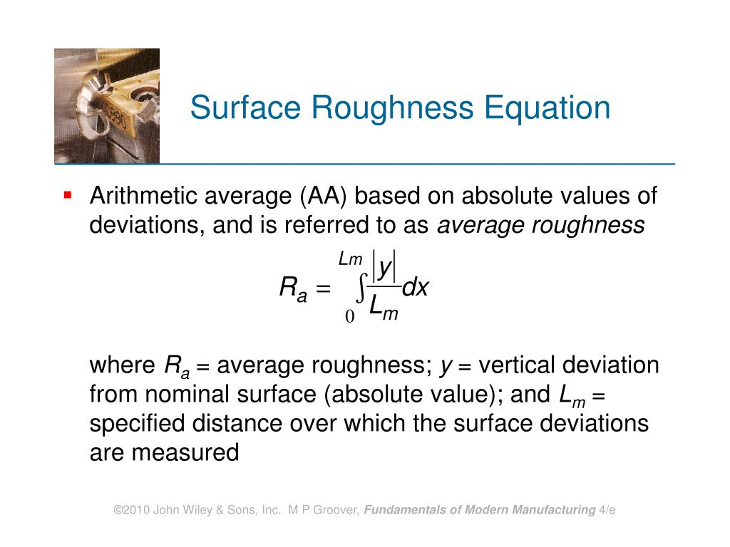 Surface Roughness Equation