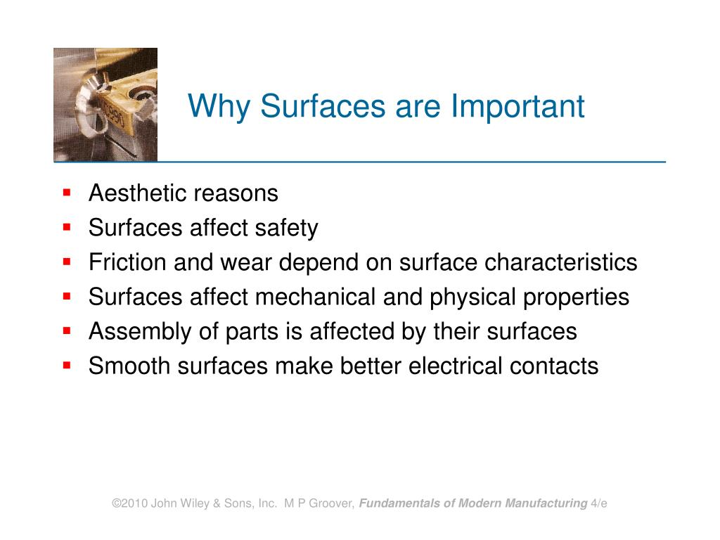 Why Surfaces are Important