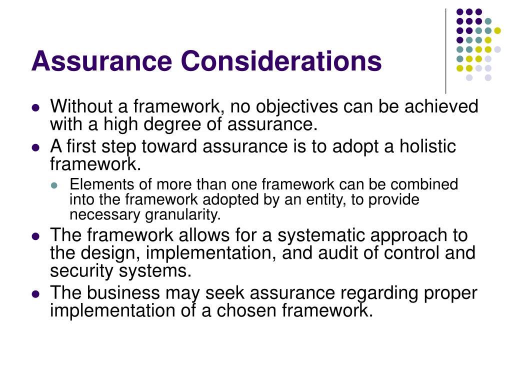 Assurance Considerations