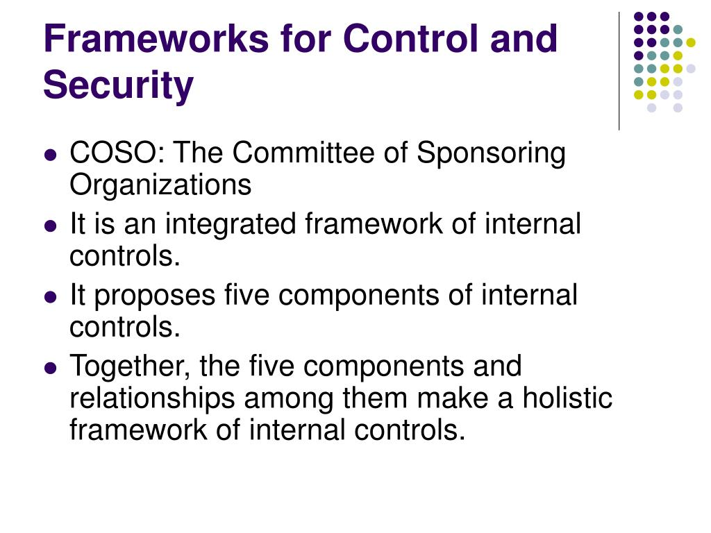 Frameworks for Control and Security