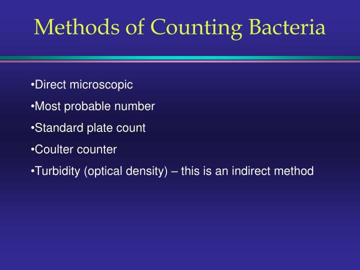 methods of counting bacteria n.