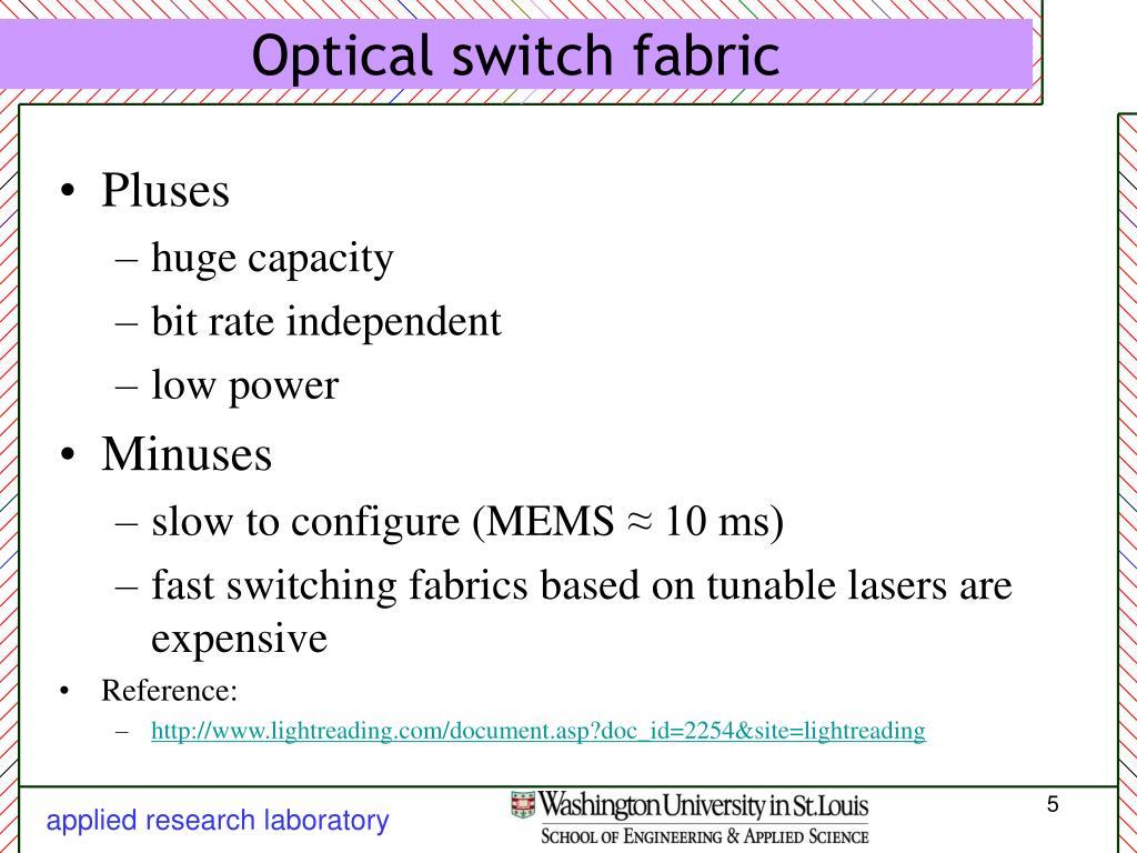 Optical switch fabric