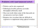 problems with load balanced switch