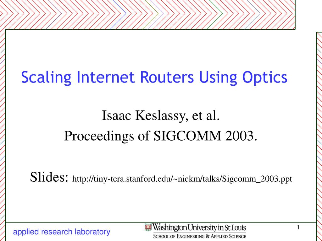 scaling internet routers using optics l.