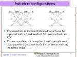 switch reconfigurations