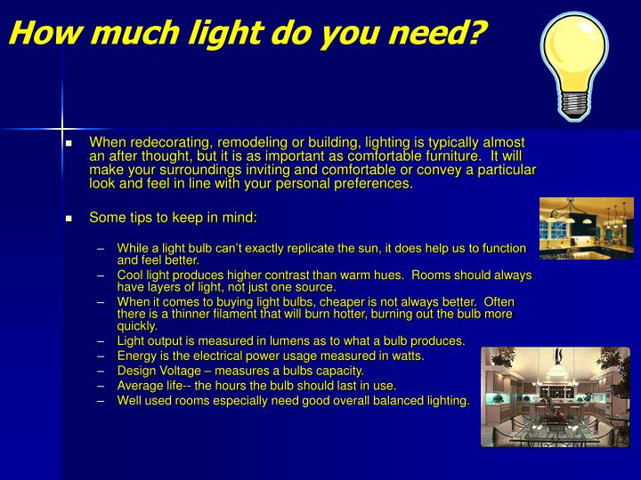 How much light do you need2