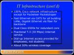 it infrastructure cont d6