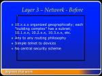 layer 3 network before