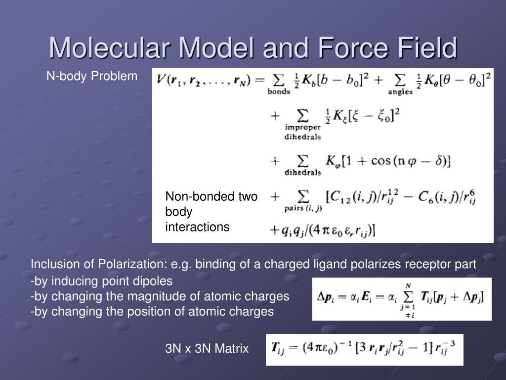 Molecular Model and Force Field