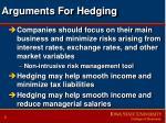 arguments for hedging