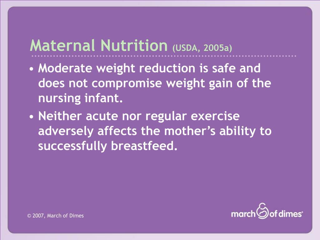 Maternal Nutrition