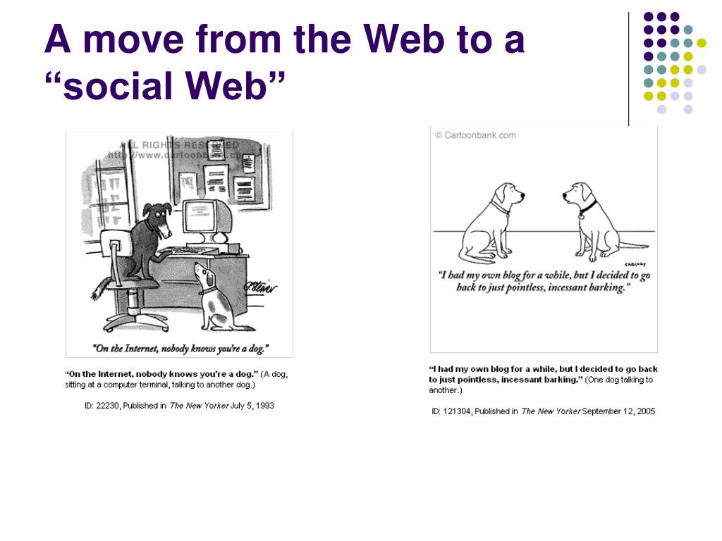 "A move from the Web to a ""social Web"""