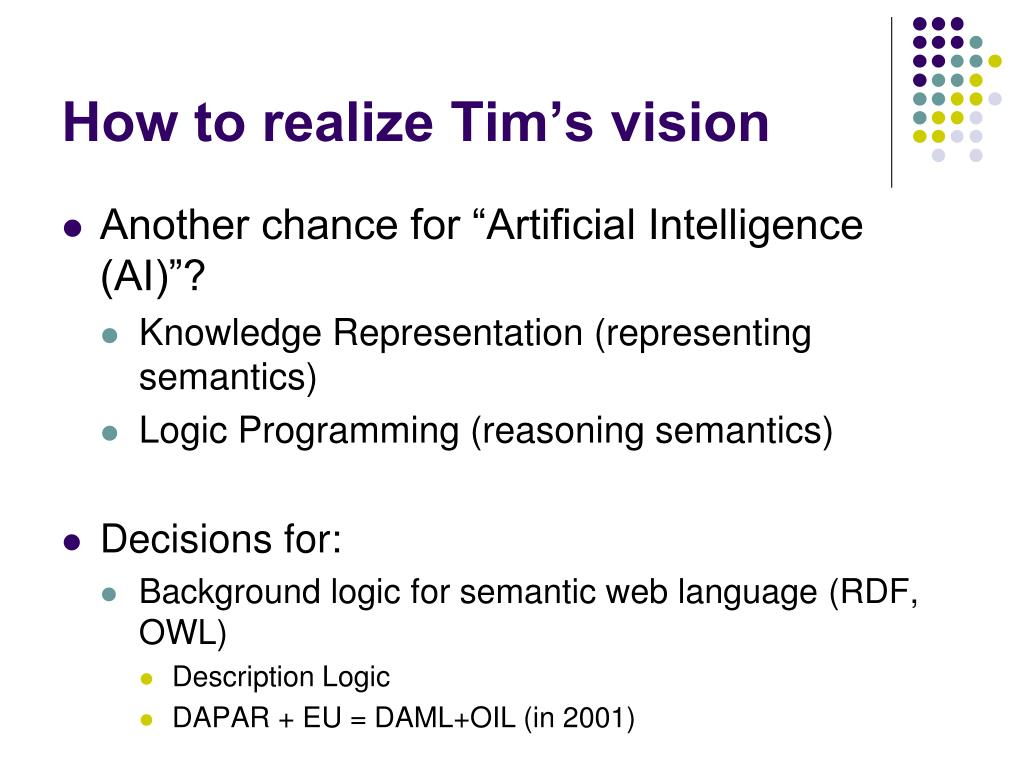 How to realize Tim's vision