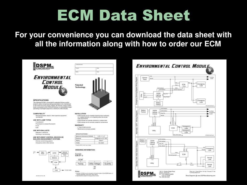 ECM Data Sheet