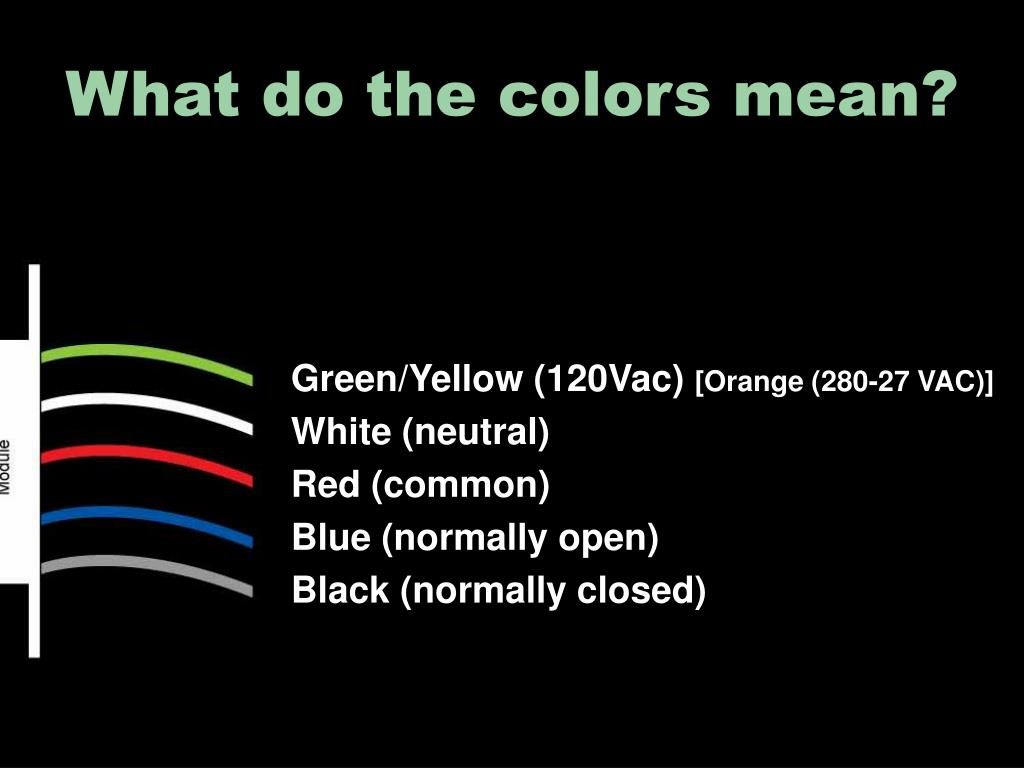 What do the colors mean?