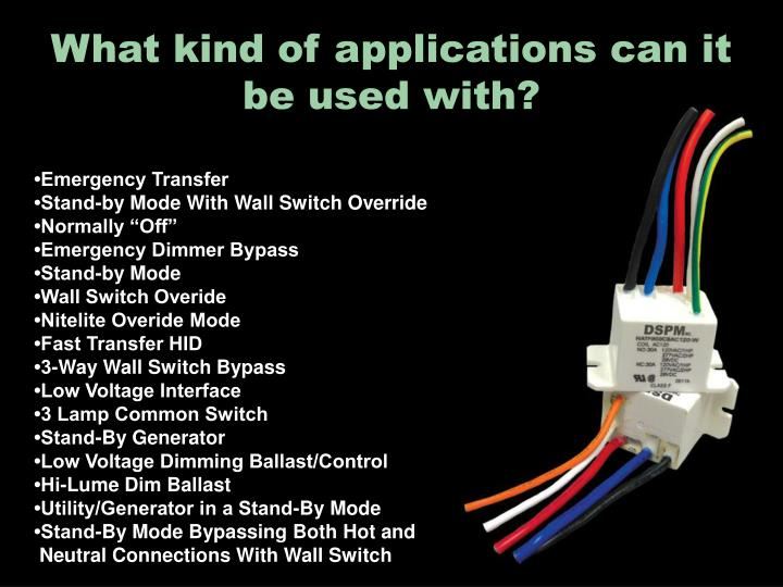 What kind of applications can it be used with