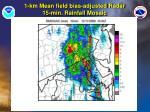 1 km mean field bias adjusted radar 15 min rainfall mosaic