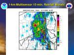 1 km multisensor 15 min rainfall mosaic