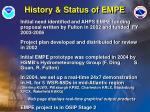 history status of empe
