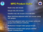 mpe product suite