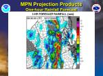mpn projection products one hour rainfall forecast