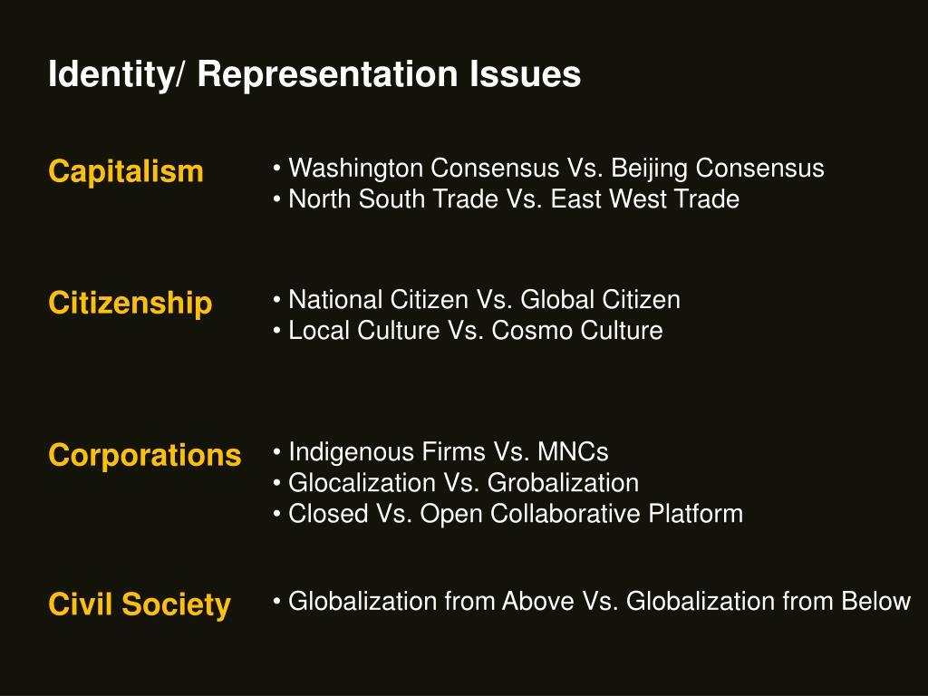 Identity/ Representation Issues