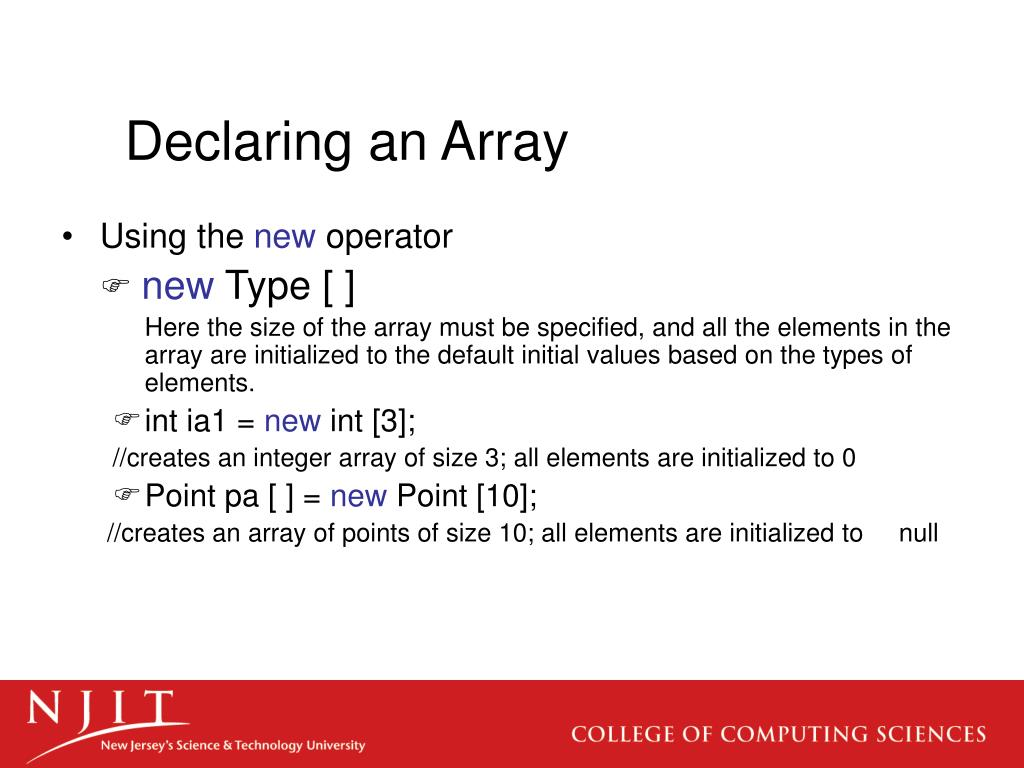 Declaring an Array