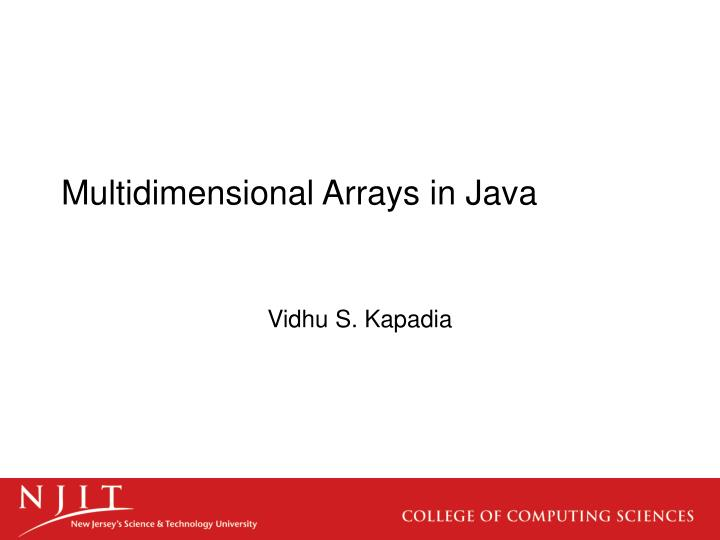 Multidimensional arrays in java